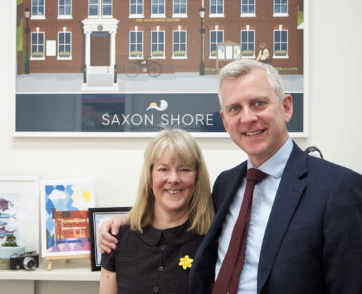 Richard Gates and Liz Jeffery of Saxon Shore